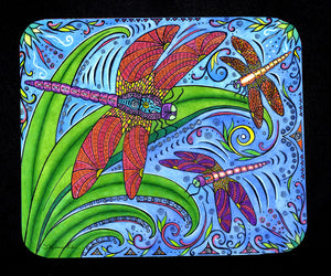 Dancing Dragonflies Mousepad