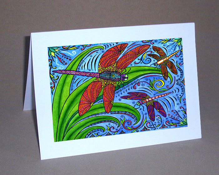 Dancing Dragonflies Notecard