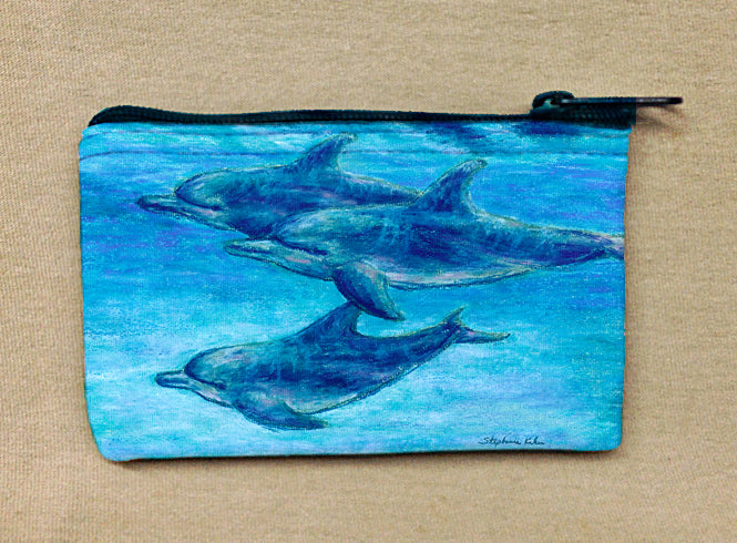 Dolphin Cruise Coin Bag