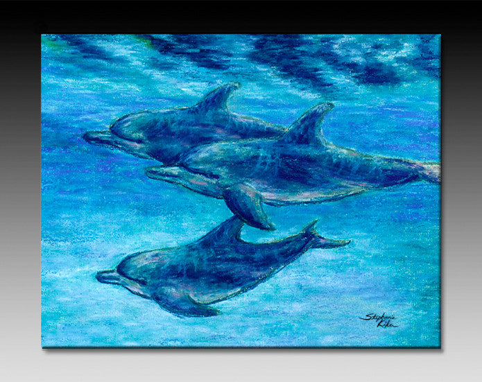 Dolphin Cruise Ceramic Tile