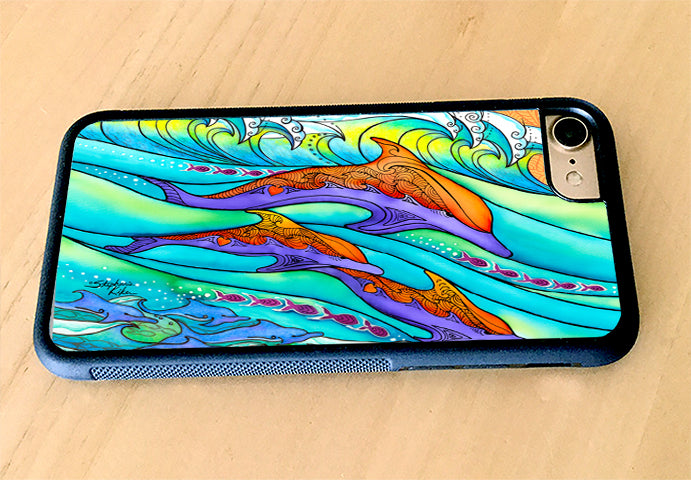 Dolphin Love iPhone Case