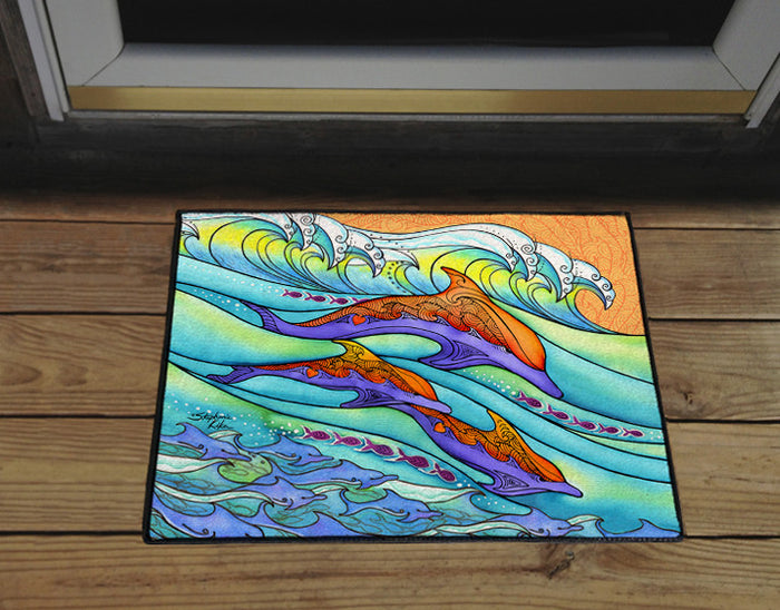 Dolphin Love Door Mat