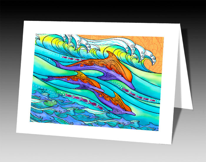 Dolphin Love Notecard