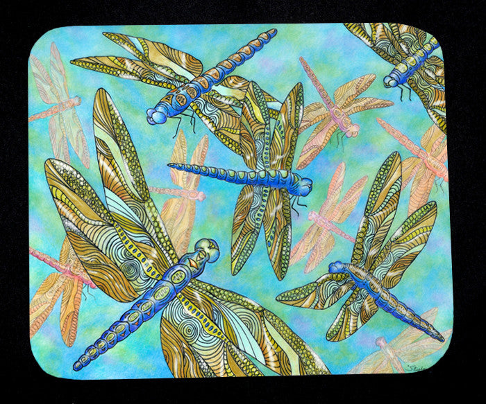 Dragonfly Gathering Mousepad