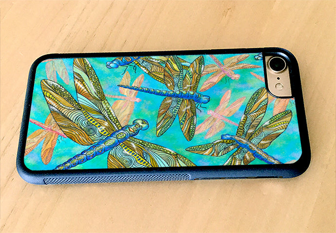 Dragonfly Gathering iPhone Case