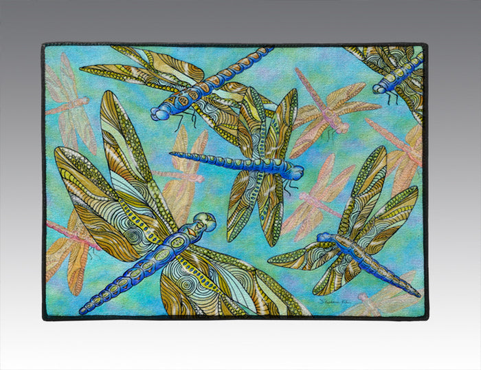 Dragonfly Gathering Door Mat