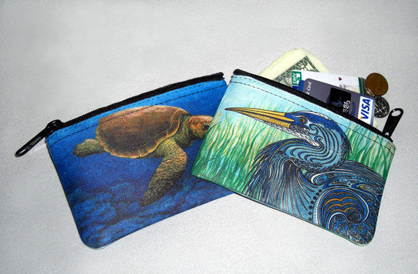 Sea Turtle Swim Coin Bag