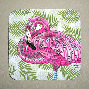 Flamingo Flowers Coaster