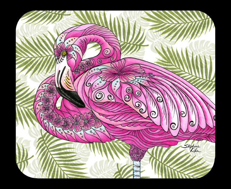 Flamingo Flowers Mousepad