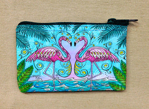 Flamingo Love Coin Bag