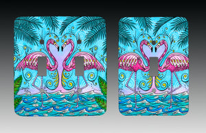 Flamingo Love Light Switch Cover