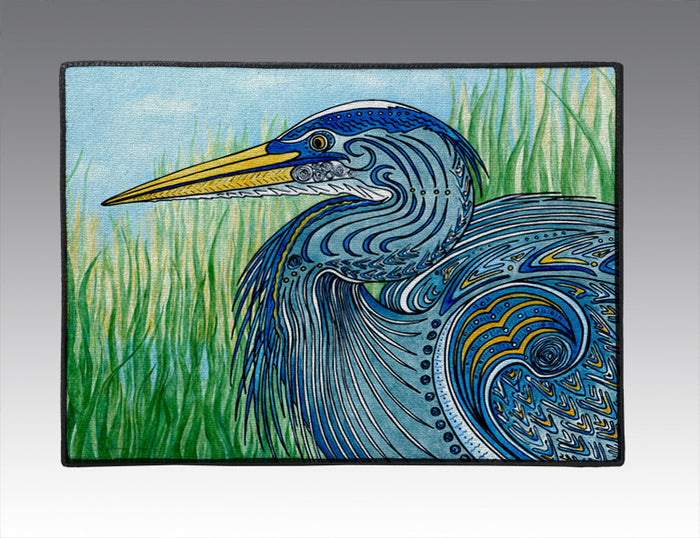 Great Blue Heron Door Mat