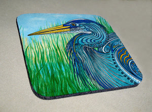 Great Blue Heron Coaster