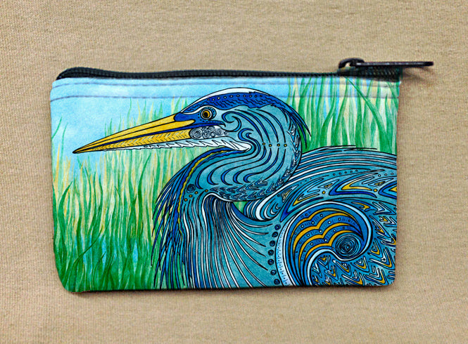Great Blue Heron Coin Bag