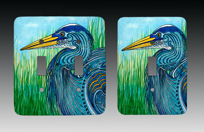 Great Blue Heron Light Switch Cover