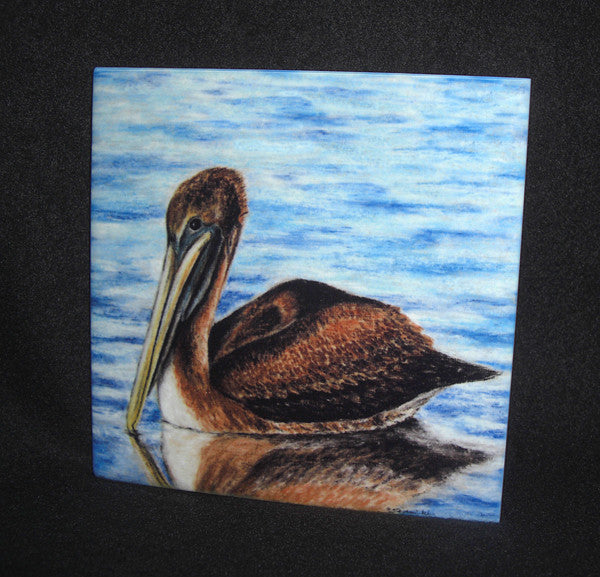 Harbor Pelican Ceramic Tile