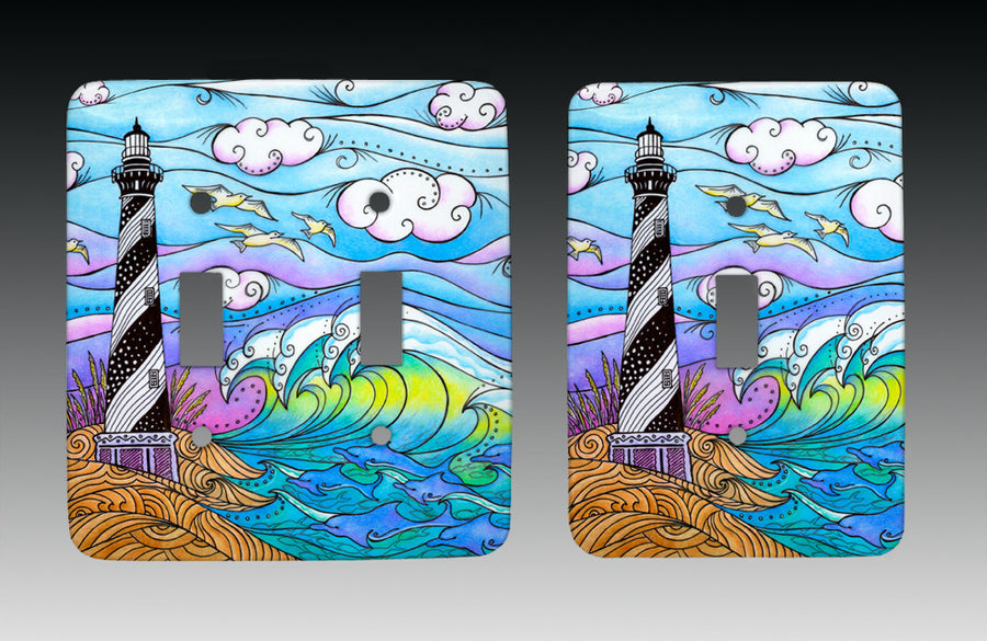 Hatteras Waves Light Switch Cover