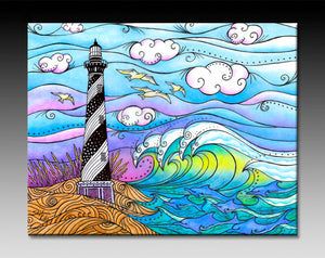 Hatteras Waves Ceramic Tile