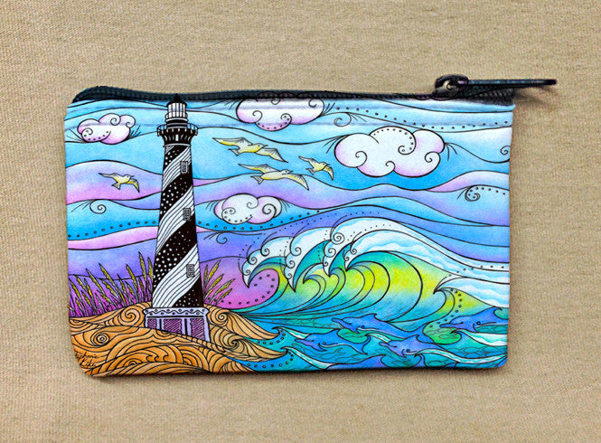 Hatteras Waves Coin Bag