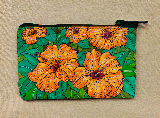 Hibiscus Coin Bag