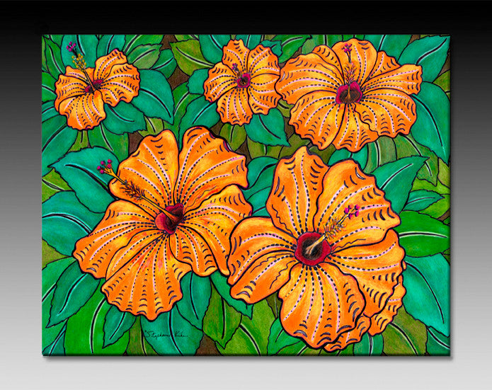 Hibiscus Ceramic Tile