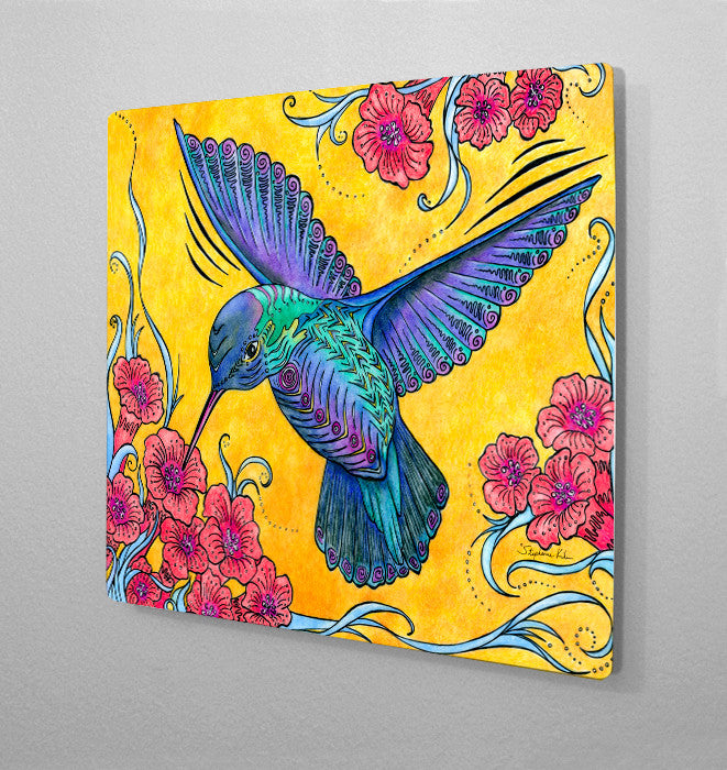 Hummingbird Aluminum Wall Art