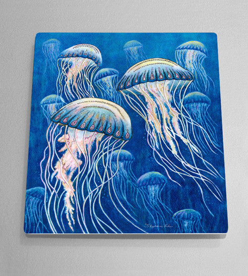 Jellyfish Aluminum Wall Art