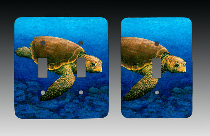 Loggerhead Turtle Light Switch Cover
