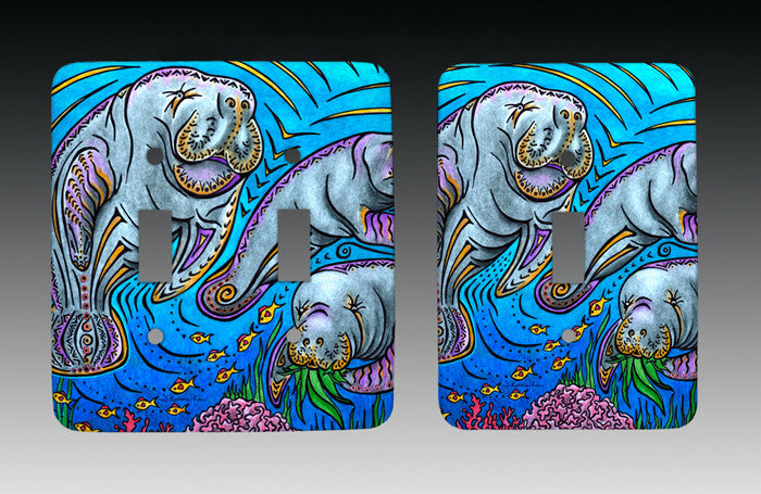 Manatees Light Switch Cover