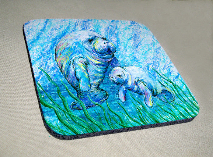 Manatees in Grass Coaster