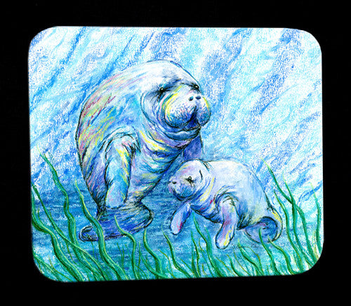 Manatees in Grass Mousepad