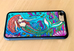 Mermaid and Seahorses iPhone Case