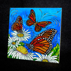 Monarchs Ceramic Tile