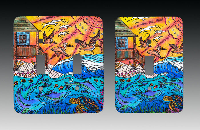 Oceanfront Light Switch Cover