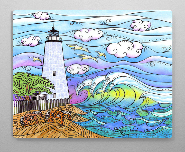 Ocracoke Waves Aluminum Wall Art