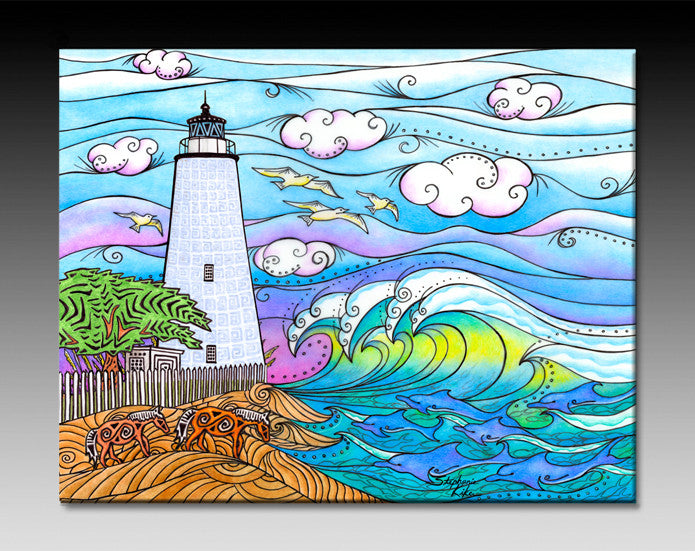 Ocracoke Waves Ceramic Tile