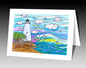 Ocracoke Waves Notecard