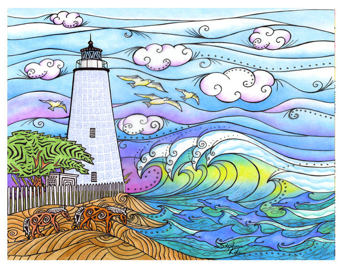 Ocracoke Waves Print