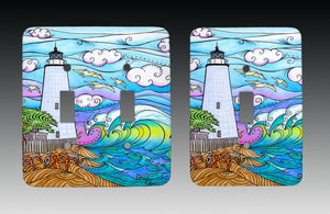 Ocracoke Waves Light Switch Cover