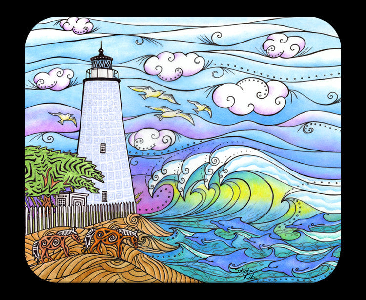 Ocracoke Waves Mousepad