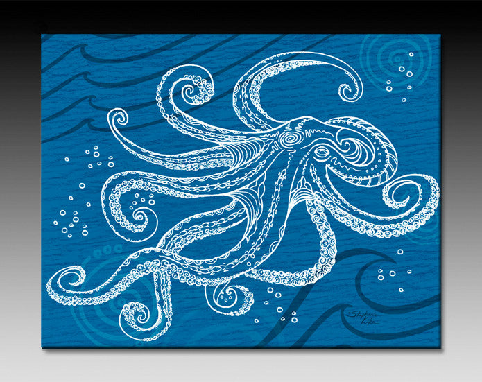 Octopus One Color Ceramic Tile