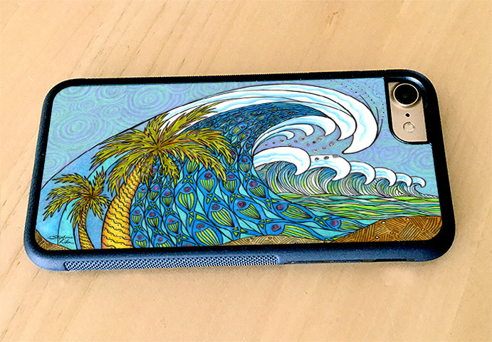 Palm Trees and Waves iPhone Case