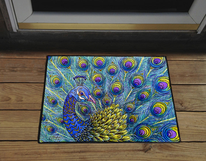 Peacock Door Mat