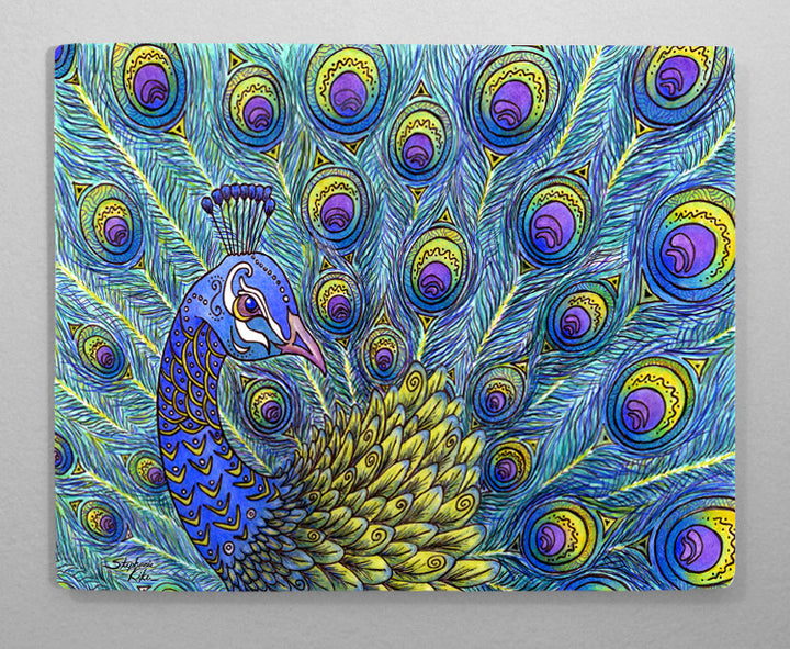 Peacock Aluminum Wall Art