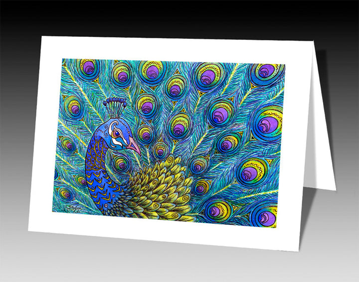 Peacock Notecard