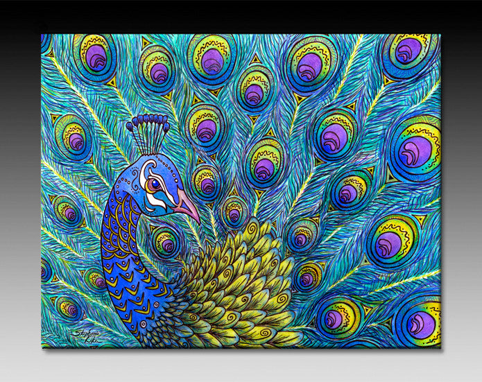 Peacock Ceramic Tile Wall Art And Backsplash Tiles By