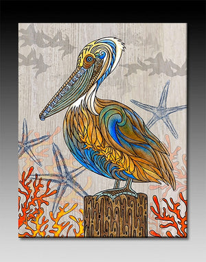 Pelican Perch Ceramic Tile