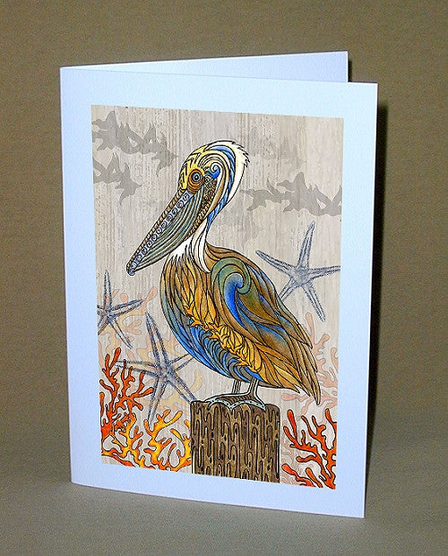 Pelican Perch Notecard
