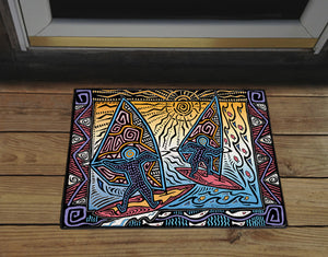 Primitive Windsurfers Door Mat