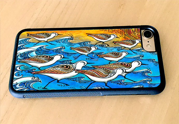 Sanderling Dance iPhone Case